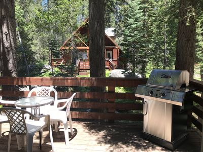 Photo for Sunny Studio Cabin with Large Deck in Pla Vada Woodlands