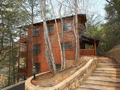 Photo for Large Family Cabin with Spectacular Views of the Great Smoky Mountains