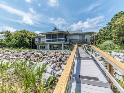 Photo for Oceanfront home w/two separate living areas; golf cart & guest cards