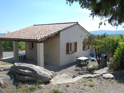 Photo for Individual cottage with superb views and pools in a gite village