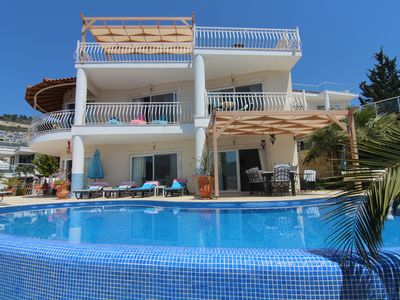 Photo for Stunning Luxury Villa With Heated Infinity Pool, Balconies and Sea Views.