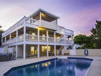 Photo for Blissful SEArinity: Oceanside, 9 bedroom with a private heated pool and hot tub.