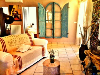Photo for The treasures of Malle Mialle: family suite in guest house in Provence