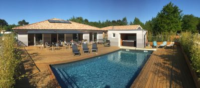 Photo for Beautiful house of 300 m² with heated pool and spa Near the ocean