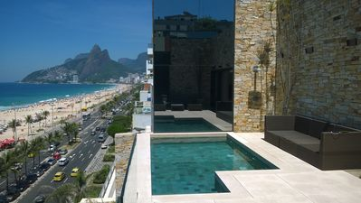 Photo for Beach-front pool paradise penthouse Ipanema by OWNER