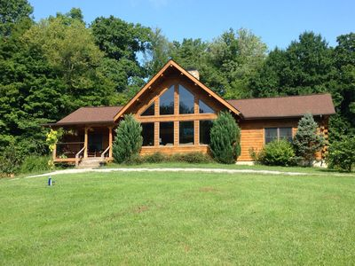 Photo for Beautiful Log Cabin Home On 15 Acres