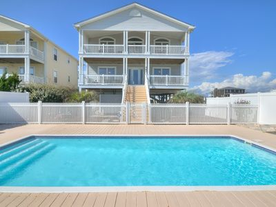 Photo for Oceanfront 4 bd home with pool!   BOOK NOW FOR THE FALL