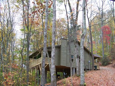 Photo for Luxuary Cabin secluded on 40 acres of Spectacular Mountain Wilderness.