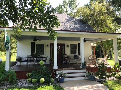 Renovated farmhouse sits on 57 acres.