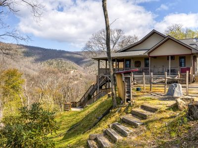 Photo for Maggie Valley Home w/Mtn Views & Screened Porch!