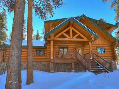 Photo for The Bear Cabin- Luxury Colorado Log Cabin- Discount Rates and Close to Skiing