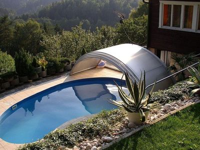 Photo for Detached house with pool and covered terrace. In the middle of the nature