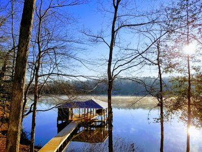 """Photo for NEW! """"Toes in the Water"""" at Lake Gaston: Brand New Custom Home on Large Cove"""