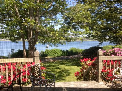 Photo for Waterfront Cape Getaway With Sandy Beach Outside Door