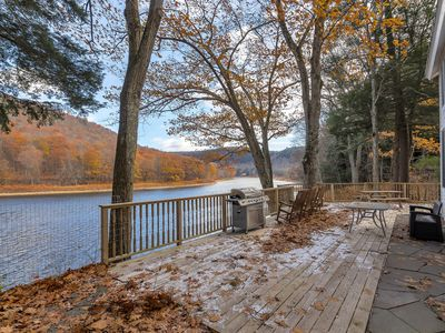 Photo for Enjoy Charming & Private Delaware Riverfront Home near Callicoon NY