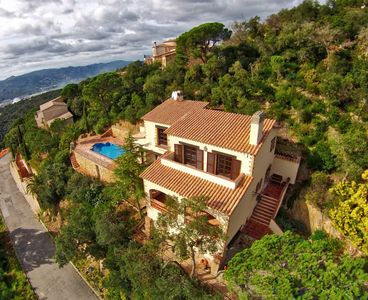 Photo for Completely reformed Catalonian style villa with sea views.