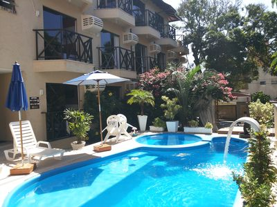 Photo for Great apt 02 bedrooms, WIFI, near the sea, condominium w / excellent inf