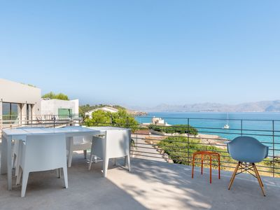 Photo for Modern Holiday Home with Garden, Terrace, Balcony, Sea View & Wi-Fi; Garage Available, Pets Allowed