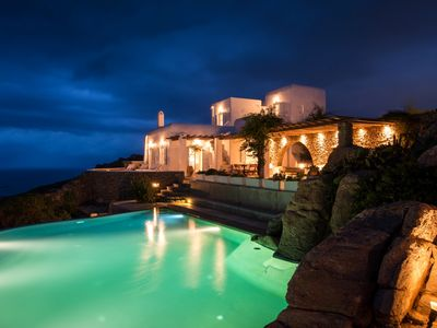 Photo for Superb Villa Dellian Mykonos 270 sqm villa 6 bedrooms, 5 bathrooms Private pool up to 11 Guests