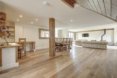 The living area is a huge floorspace which has been wonderfully designed.