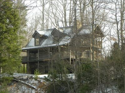 Photo for Hemlock Point cabin,  in gated Leatherwood Mountains subdivision, 2 bdrms + loft