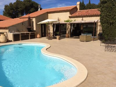 Photo for Cassis villa with pool in National Park creeks