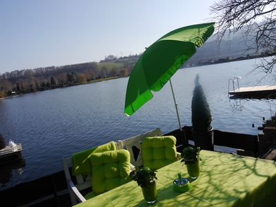 Photo for Cottage on the lake, large garden, private jetty