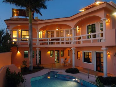 Casa Feliz is a 4 Bedroom, 4 Bathroom Home in front of the Caribbean Sea.