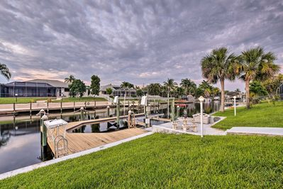 Bring your boat along with canal access and a private dock.