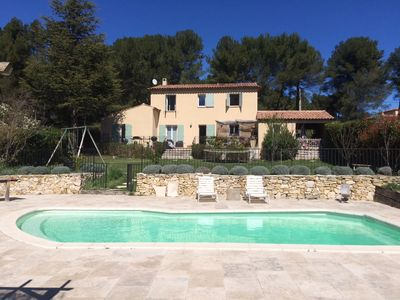 Photo for Villa in Provence village with swimming pool and open view