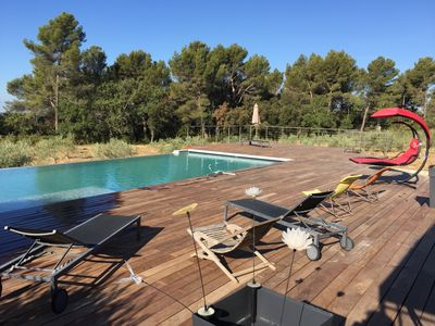 Photo for Villa with swimming pool in the middle of olive trees and lavender