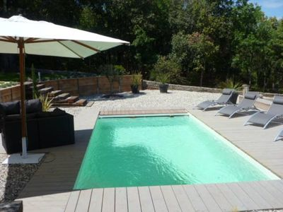 Photo for 90m2 villa, quiet, with private heated pool
