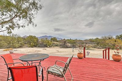 Enjoy the stunning mountain views from this Tucson home-away-from-home.