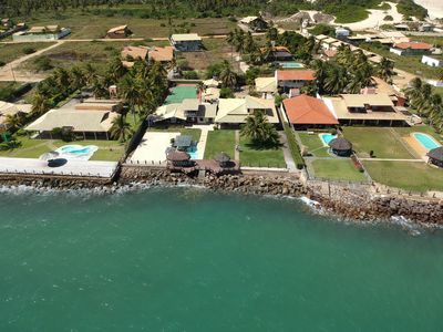 Photo for House facing the sea with swimming pools in Praia do Saco