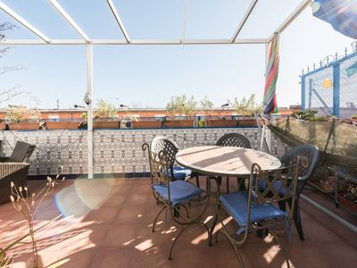 Photo for The blue balcony - a small oasis in the most authentic neighborhood of Madrid