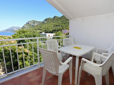 Photo for One bedroom apartment with terrace and sea view Žuljana (Pelješac)