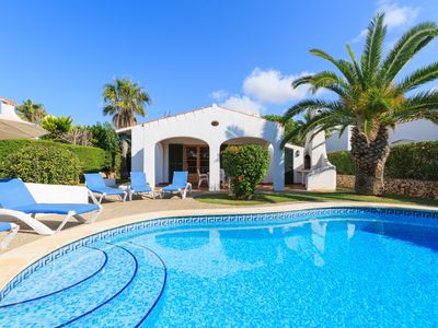 Photo for Villa Noixa: Large Private Pool, Walk to Beach, WiFi