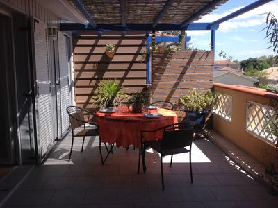 Photo for Independent T3 in large property, 74 m² upstairs with terrace