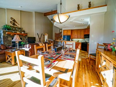 Photo for Walk to the Ski Area + Pool + Private Shuttle + Rent 4 nts - 5th Night FREE