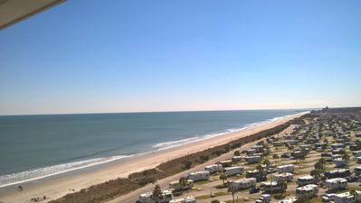 Photo for Full Ocean view off balcony! Sleeps 4, modern and clean!