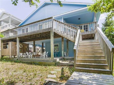 Photo for DOCK HOLLIDAY: 4 BR / 3 BA soundfront in Topsail Beach, Sleeps 11