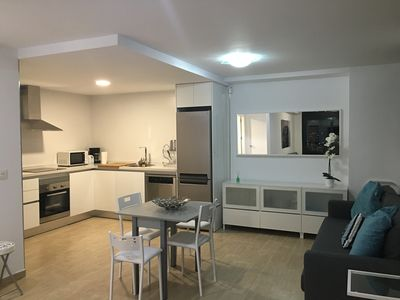 Kitchen & Living Area with sofa bed