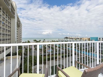 Photo for 5th Floor Beachfront Condo at Sapphire! Great Ocean Views! Huge Pool, Hot tubs!
