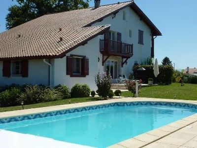 Photo for 10 minutes from Biarritz and its beaches. Basque typical house. View of the Rhune.
