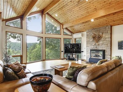 Photo for Post & Beam Construction, open contemporary, breathtaking views to Mt. Mansfield, hot tub