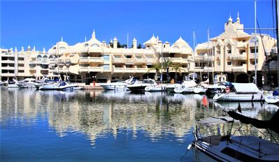 Photo for Beachfront Benalmadena Marina Apartment Sea/Beach Views Pool Aircon WIFI