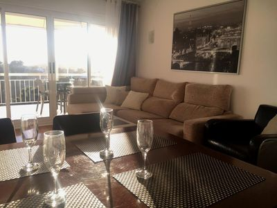 Photo for HOUSING BETWEEN BARCELONA AND SITGES / 6-7 PEOPLE / POOL AND SEA VIEWS