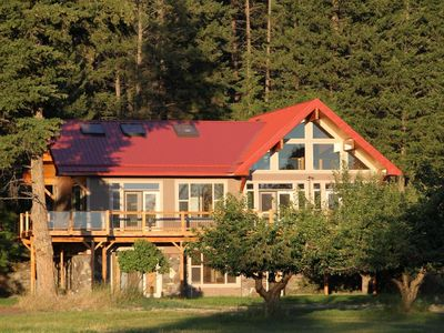 Photo for Upscale Luxury Home on Cherry Orchard Overlooking Flathead Lake
