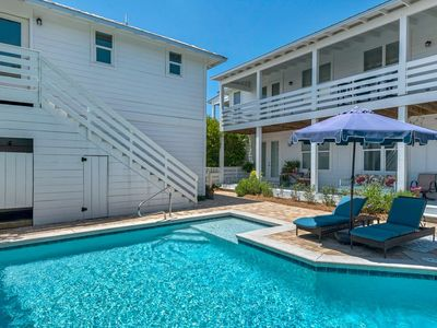 Photo for Beautifully Updated Beach Home w/Private Heated Pool-Free Golf Cart-Short Walk to the Beach!