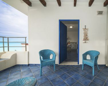 Photo for Seaview 3-room apartment stunning view Aeolian Islands